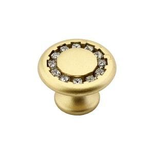 Ручка-кнопка EVEREST золото со стразами