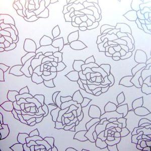 Снежная роза металлик DR116-6Т