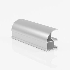 Ручка профиль асимметричная серебро