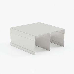 профиль верхний двухполозный Белый глянец