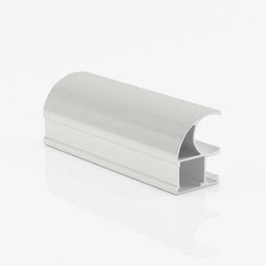 Ручка профиль асимметричная белый глянец