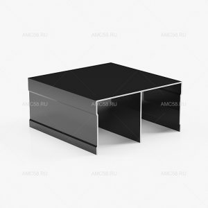 профиль верхний двухполозный Черный глянец