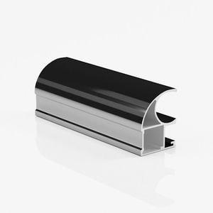 Ручка профиль асимметричная черный глянец