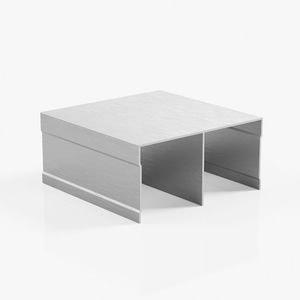 профиль верхний двухполозный серебро браш