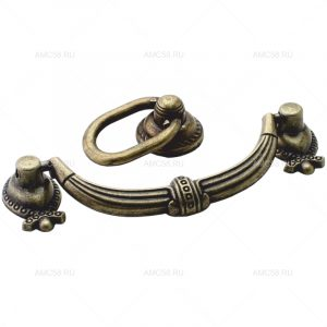 Ручка-скоба и ручка-кнопка 1706 бронза