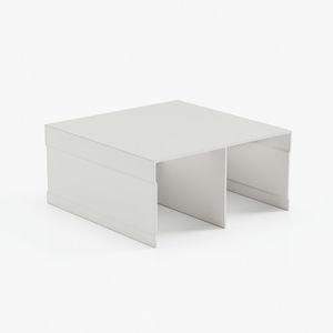 профиль верхний двухполозный белый матовый