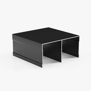 профиль верхний двухполозный черный матовый