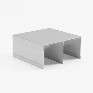 профиль верхний двухполозный серебро глянец