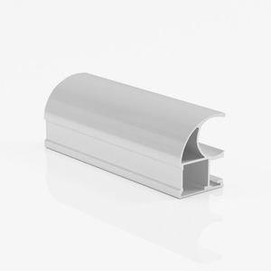 Ручка профиль асимметричная серебро глянец