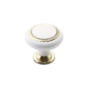 Ручка-кнопка K-1, белая