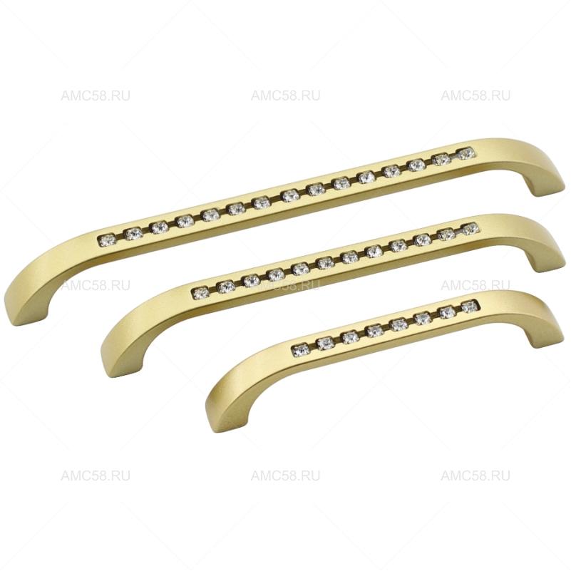 Ручка-скоба со стразами ROMA, золото