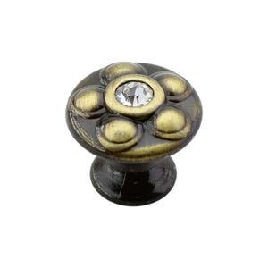 Ручка-кнопка YAGMUR со стразами, бронза