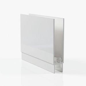 Профиль горизонтальный нижний - белый глянец
