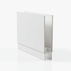 Профиль горизонтальный нижний - белый матовый