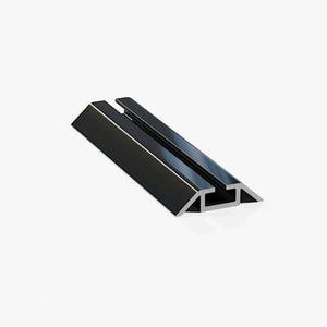 Профиль нижний ходовой однополозный черный глянец