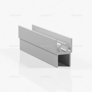Профиль горизонтальный верхний - серебро