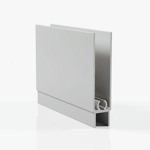 Профиль горизонтальный нижний - серебро
