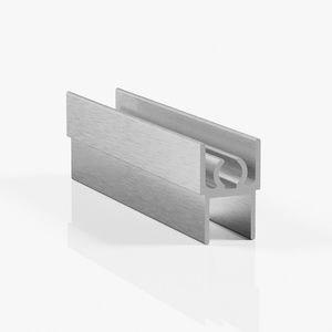Профиль горизонтальный верхний - серебро браш