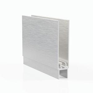 Профиль горизонтальный нижний - серебро браш