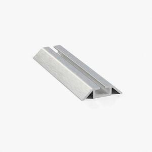 Профиль нижний ходовой однополозный серебро браш