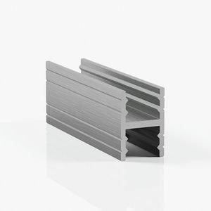 Профиль разделительный без винтов - серебро браш