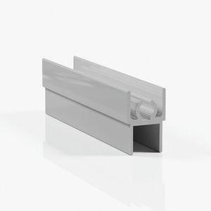 Профиль горизонтальный верхний - серебро глянец