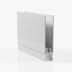 Профиль горизонтальный нижний - серебро глянец
