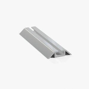 профиль нижний ходовой однополозный серебро глянец