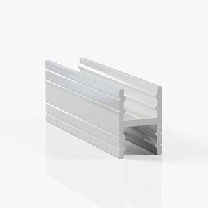 Профиль разделительный без винтов - серебро глянец
