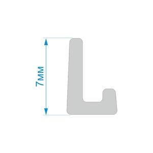 Уплотнитель L-образный - схема