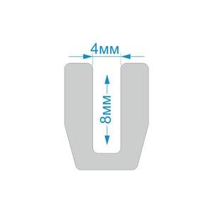 Уплотнитель П-образный, схема