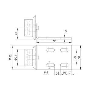Колёсная опора №174 схема