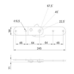 Механизм трансформации подлокотника №542 схема