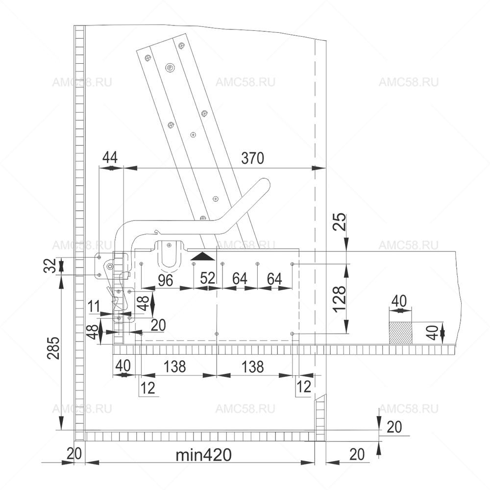 Стопор к механизму №582 схема